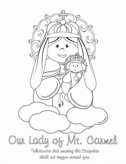 Carmel Coloring Mt Lady Scapular Ol Giveaway