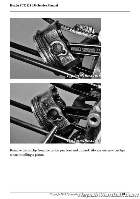 honda 2011 2018 pcx 125 150 cyclepedia printed scooter service manual