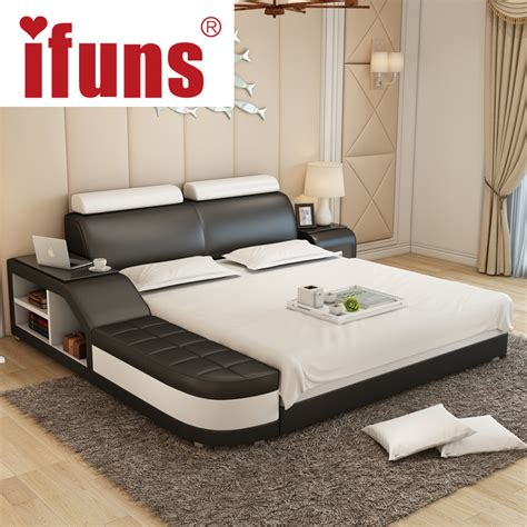 bed designs online buy wholesale leather bed designs from china leather bed designs wholesalers aliexpress com