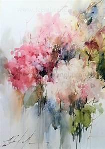 Selección de acuarelas de flores - Flowers - watercolors ...