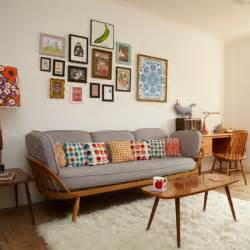 retro home interiors retro living room with pretty prints living room decorating housetohome co uk