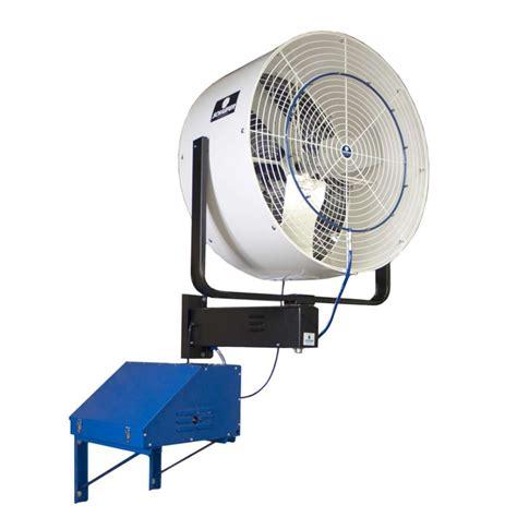 wall mounted fans schaefer versafog 36 quot wall mount oscillating misting fan
