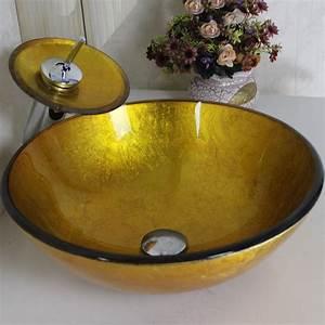 Waschbecken Glas Rund : armaturen waschbecken armaturen sets eu lager gold rund glas waschbecken mit wasserfall ~ Markanthonyermac.com Haus und Dekorationen