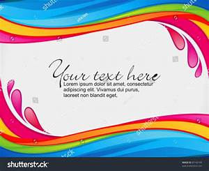 Abstract Colorful Rainbow Color Splash Border Stock Vector ...
