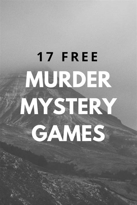 Free Murder Mystery Scripts For Your Next Murder Mystery