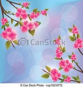 Sakura Baum Kaufen : vektoren illustration von hintergrund mit sakura bl te sakura bl te csp13210772 ~ Frokenaadalensverden.com Haus und Dekorationen