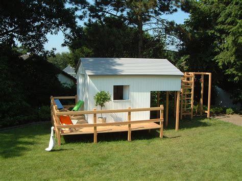 Gartenhäuser Für Kinder by Gartenhaus F 252 R Kinder Mit Integriertem Kletterger 252 St
