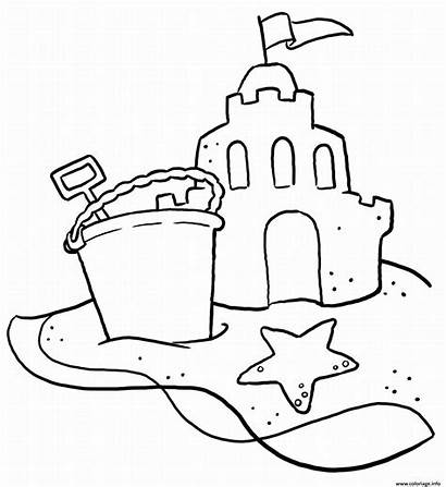 Sable Chateau Vacance Coloriage Dessin
