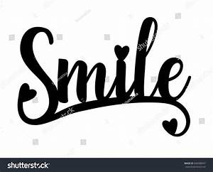 Smile Laser Cut Silhouette Ink Hand Stock Vector 640388947 ...