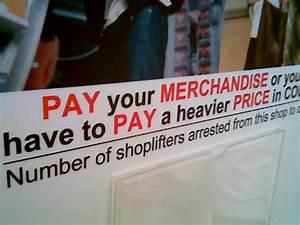 Poblem Engrish: Anti-Shoplifting Campaign Ad