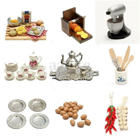 Accessories Furniture by 1 12 Scale Dollhouse Miniature Kitchen Acessories Food