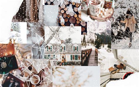 winter aesthetic collage desktop wallpapers