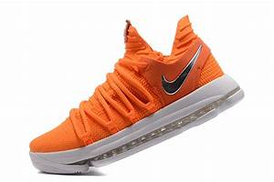 2017 Cheap Nike KD 10 EP Orange White Basketball Shoes For ...