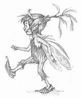 Pixies Pixie Fairy Drawings Fairies Drawing Mythical Sketch Cornish Tattoo Piskies Clothes Boy Creatures Coloring Google Celtic Fantasy She Woman sketch template