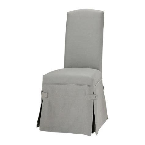 housse de chaise lin gris clair alice maisons du monde