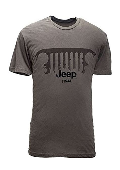 jeep t shirt 39 s jeep grille sueded crew t shirt jeep wrangler outpost