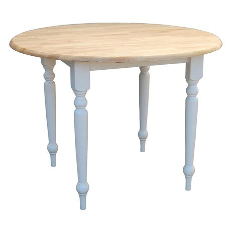 Shop TMS Furniture WhiteNatural Wood Round Extending