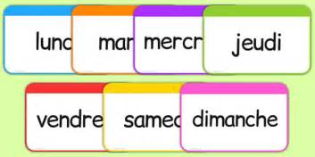 les jours de la semaine flashcards french french days week