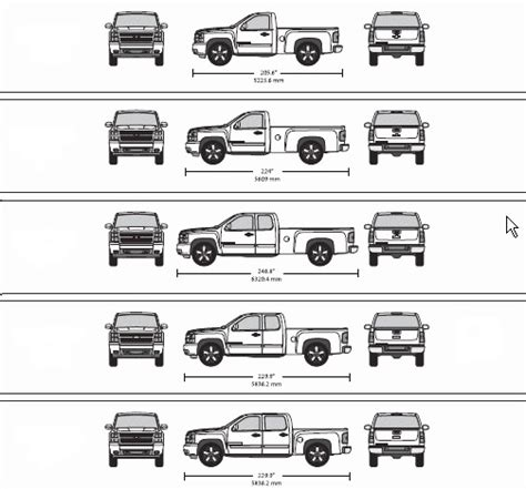 full size truck bed dimensions sante blog