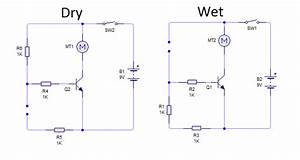 Wet And Dry Sensor Circuit In One  Basic