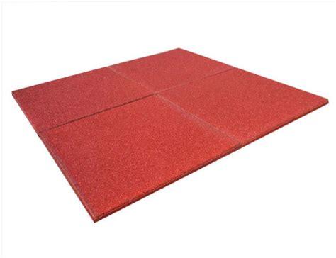 piastrelle gomma piastrella in gomma rossa sbr per esterno 100x100x2 senza