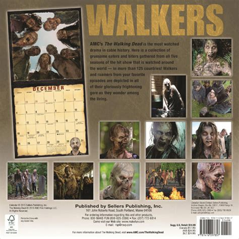 walking dead eaters biters roamers walkers zombies calendars