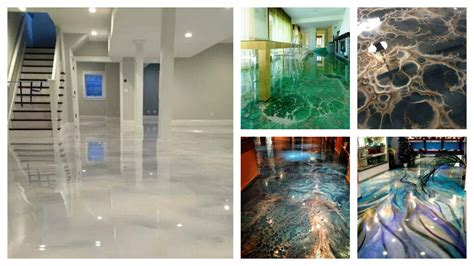 Epoxy coating can be roughly divided into three types: Epoxy Floor Designs   Ideas & Inspirations - YouTube
