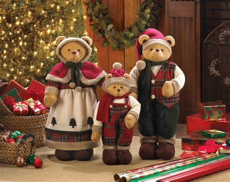 christmas decorations holiday family bear d 233 cor for your