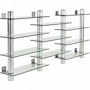 Cd Regal Aus Glas : stilista design glas aluminium cd dvd regal wandregal f r 300 cds ebay ~ Bigdaddyawards.com Haus und Dekorationen