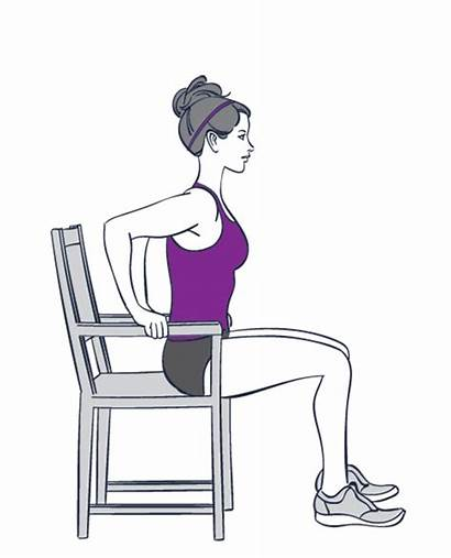 Chair Sitting Down While Exercises Sit Push