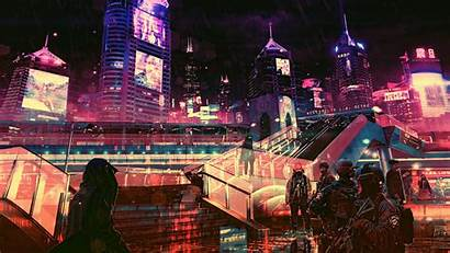 4k Cyberpunk Futuristic Future Laptop Samsung Backgrounds