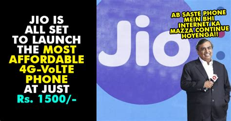 be ready for the reliance jio is launching 4g volte phones at just rs 1 500 rvcj media