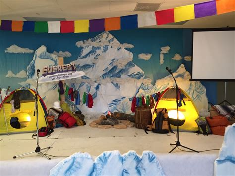 Decorating Ideas For Everest Vbs by Everest Vbs Decorations Stage Everest Vbs