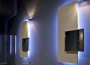 miroir salle de bain lumineux et eclairage indirect en 50 With carrelage adhesif salle de bain avec ruban lumineux a led