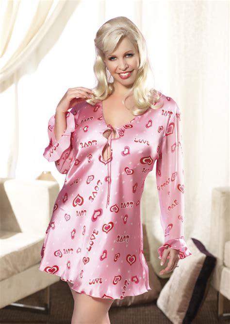 size silk night shirt