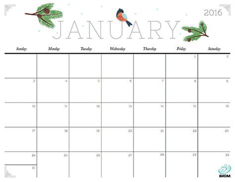 cute  crafty  printable calendar