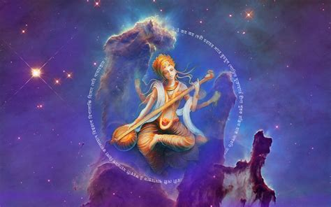 wallpaper saraswati indian goddess goddess  knowledge