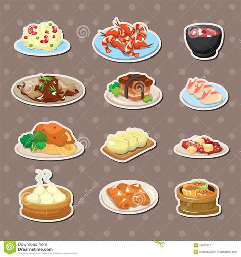 cuisine free food stickers stock vector image of cuisine
