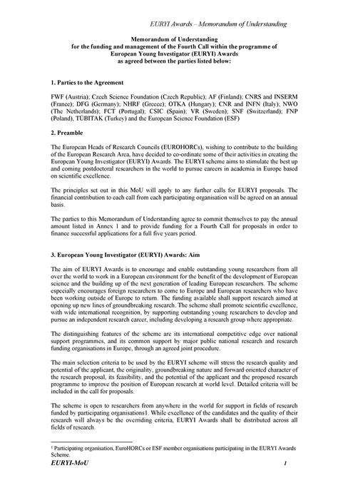 memorandum  understanding templates word