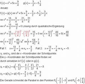 Schnittpunkt Zweier Geraden Berechnen Vektoren : l sungen geraden und parabeln zur vorbereitung einer klassenarbeit i ~ Themetempest.com Abrechnung