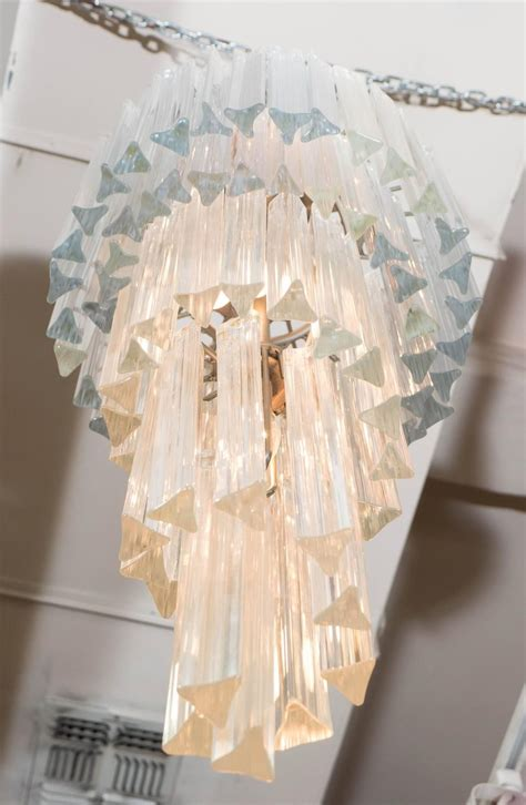 cascading glass chandelier cascading murano glass chandelier mid century nyshowplace