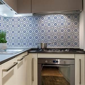 Stickers Carreaux De Ciment Cuisine : 30 stickers carreaux de ciment azulejos aroha cuisine ~ Melissatoandfro.com Idées de Décoration