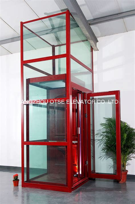 houses with elevators tempering glass shaft sightseeing home elevator for house