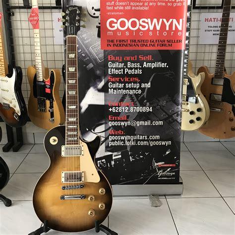 sudah laku bekas 1991 gibson usa les paul standard tobacco burst gooswyn guitars