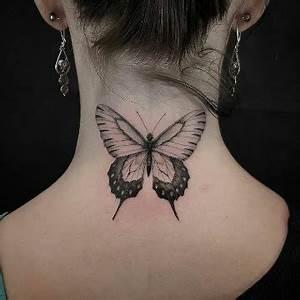 Tatouage Papillon Signification : 4 de las posiciones de tatuajes de mariposas en el cuello ~ Melissatoandfro.com Idées de Décoration
