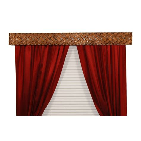 bcl drapery hardware braid curtain rod valance in antique