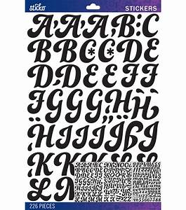 sticko black funkydori large alphabet stickers at joanncom With giant letter stickers