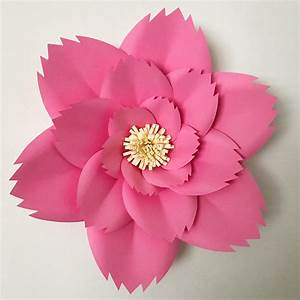 Paper Flowers Pdf Petal 46 Paper Flower Template With Base
