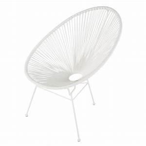 Fauteuil De Jardin Rond : fauteuil de jardin rond blanc copacabana maisons du monde ~ Teatrodelosmanantiales.com Idées de Décoration