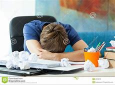 Student Sleeping On The Table Stock Photo Image 43639016